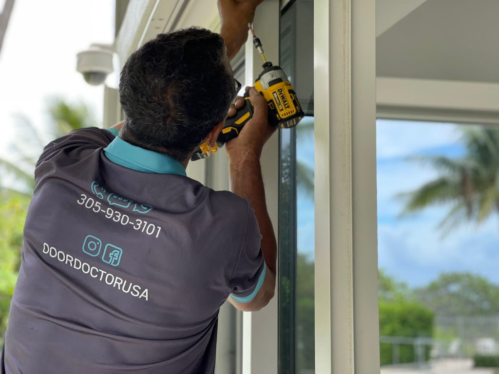 repair and installation of glass doors and windows
